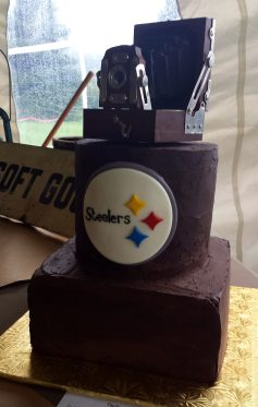 Roughed Chocolate Groom's Cake