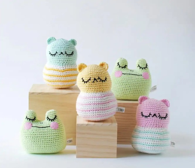 Tiny Curl Crochet Spring Collection Plushes