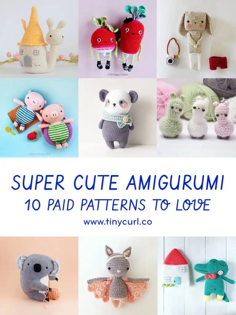 Super Cute Amigurumi | 10 Paid Patterns to Love | Tiny Curl Crochet