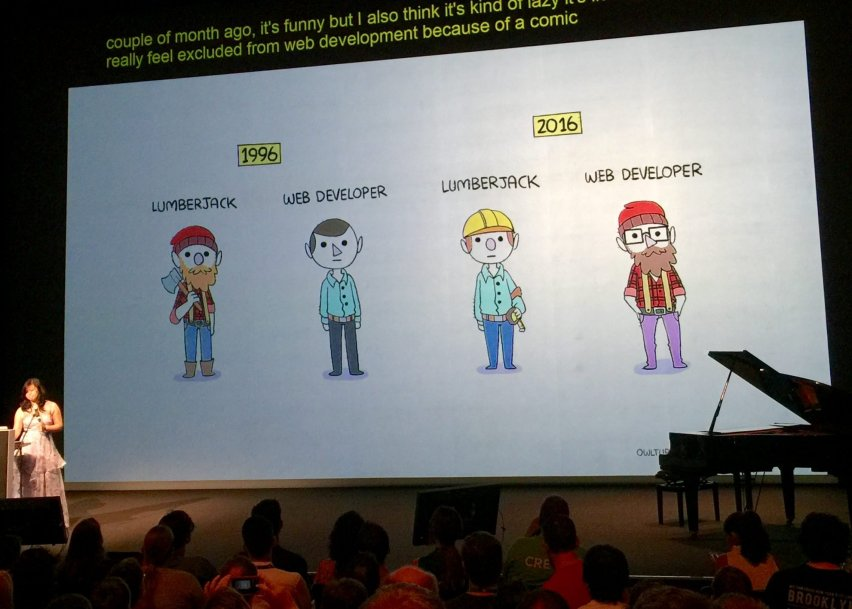 Lumberjack vs Web Developer