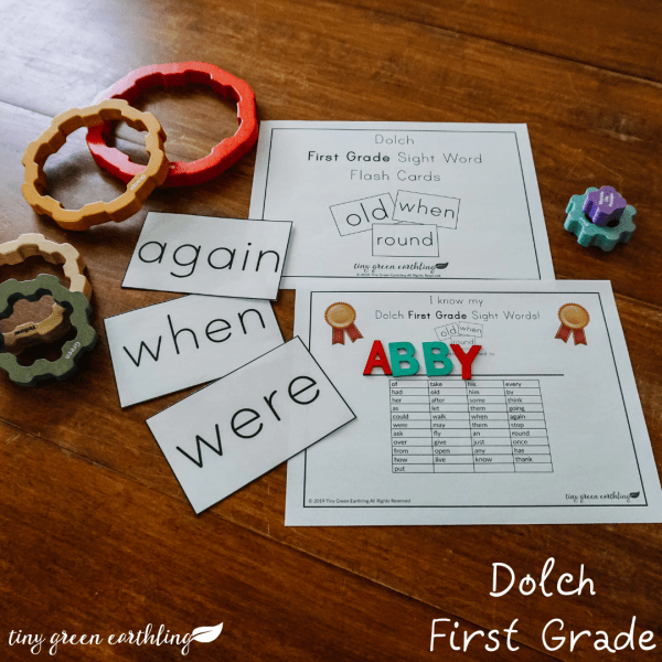 dolch first grade sight words flash cards