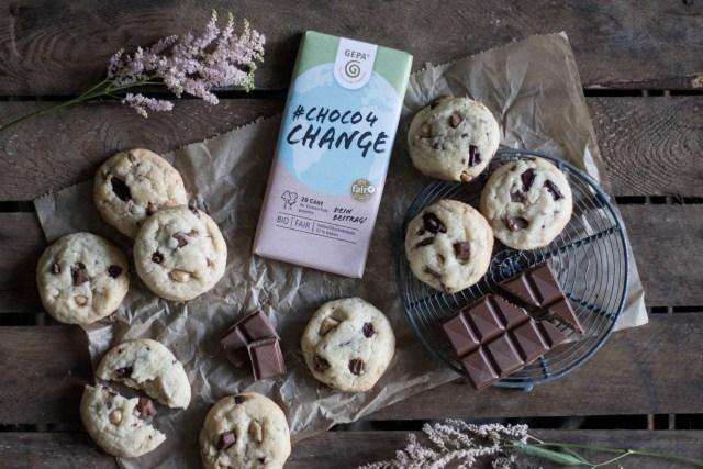 Chocolate Chip Cookies mit der #Choco4Change von GEPA