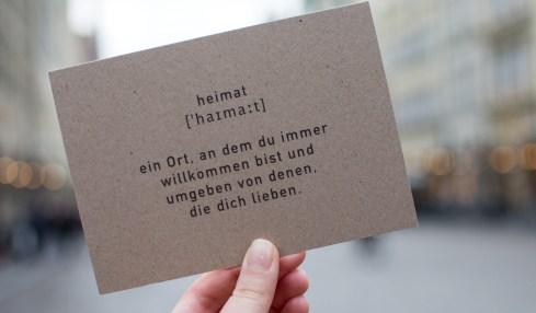 richtung°heimat Postkarte
