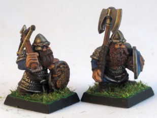 Xbow and axe armed troops