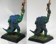 The Quickshade has brought out more detail and in a more subtle way than the dark green wash this saurus originally got
