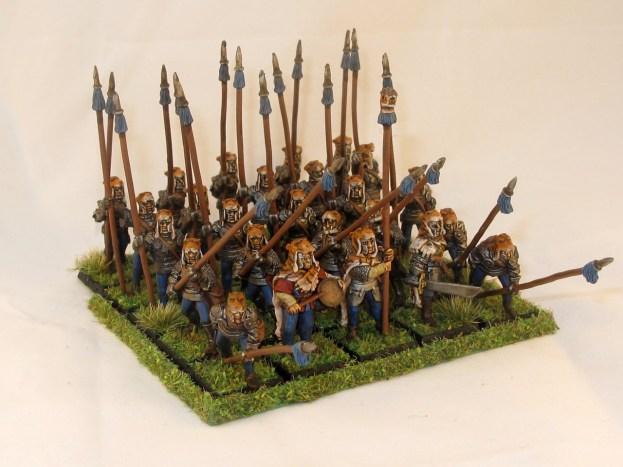 Full regiment, 25 strong