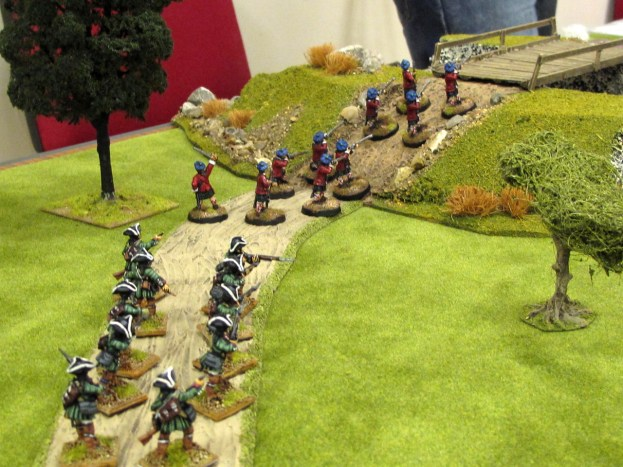 A mixed British force marches into battle