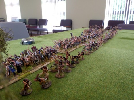 My motley battle line forms up fro the last stoush of the weekend