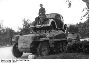 The Germans tried mounting pretty much anything on a SdKfz 250...