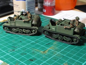 Before and after shot of the Tamiya dust weathering powder
