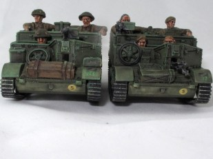 A pair of Universal carriers, modified to resemble actual ones used by the Kiwis in Italy