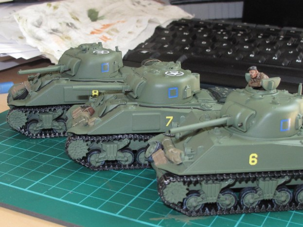 The platoon lined up after adding markings