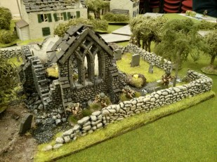 """The Paras trying to hold the """"Church on the Flank"""" in KvL game 4."""