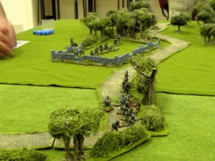 A sizeable force of Germans deploys early