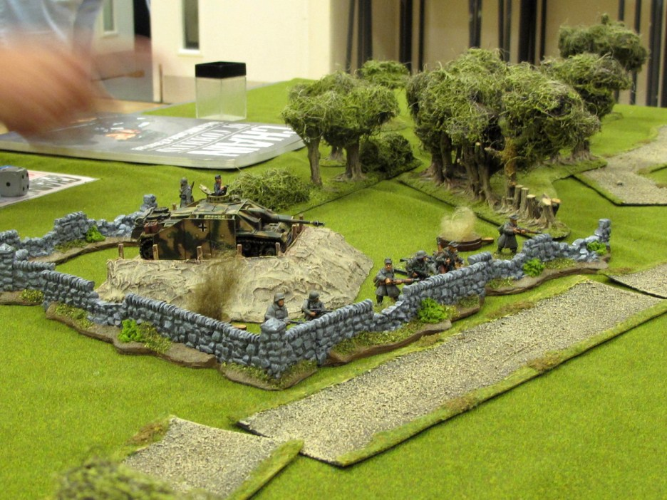 Germans hunkered down in cover, but they couldn't stop the Russian steamroller
