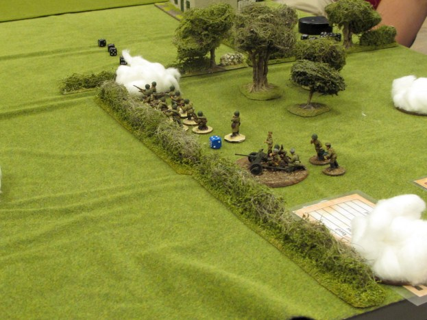 German barrage lands on the Russian AT gun and platoon CO