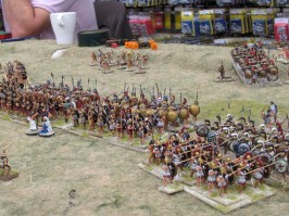 More Greek phalanxes pushing and shoving