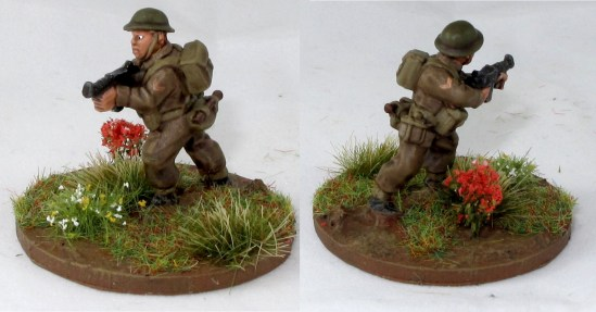 The platoon sergeant, again with Thompson instead of Sten.