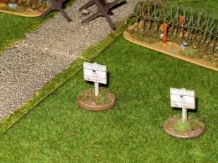 Minefield markers