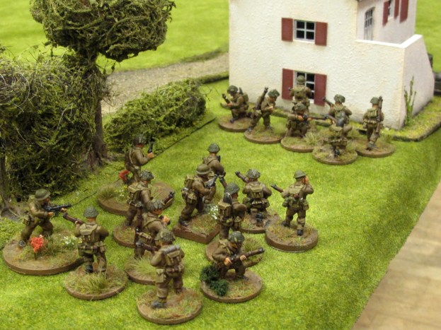 British troops move up to start their attack