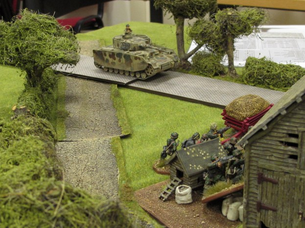 The Germans bring up their Panzer IV