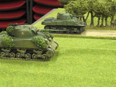 These two Shermans quickly dispatch a Panzer IV
