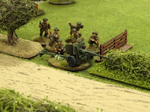 We proxied in this 6pdr miniature for the 17pdr