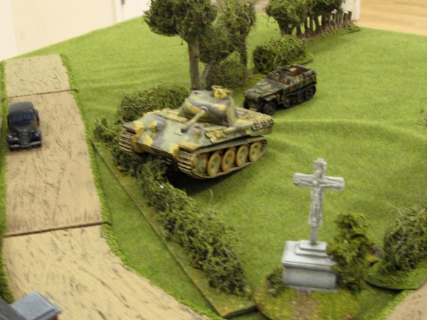 The Panther leads a thrust down the German right flank