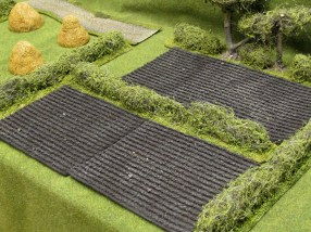 """Some of the smaller fields. Smallest size is 5x6""""."""