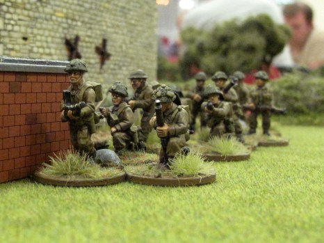In the centre a section with the CO waits to advance