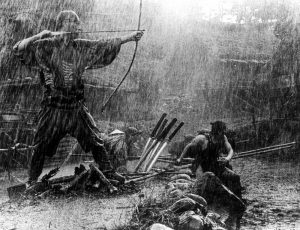 "Ronin battling bandits in ""Seven Samurai"". The authors have made sure you can field anything you've seen in a movie."