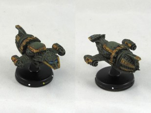 Another Firefly, this time in green. I was trying to avoid just painting them all grey