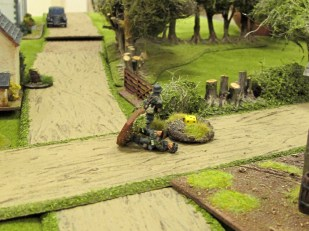 ...while the remnants of their advance patrol fall back bloodied