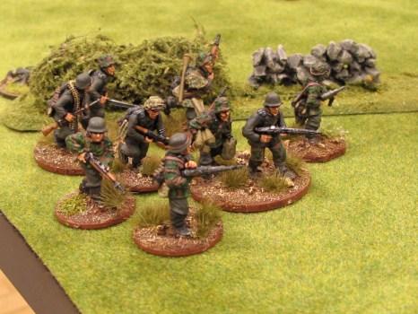 The panzergrenadiers deploy...