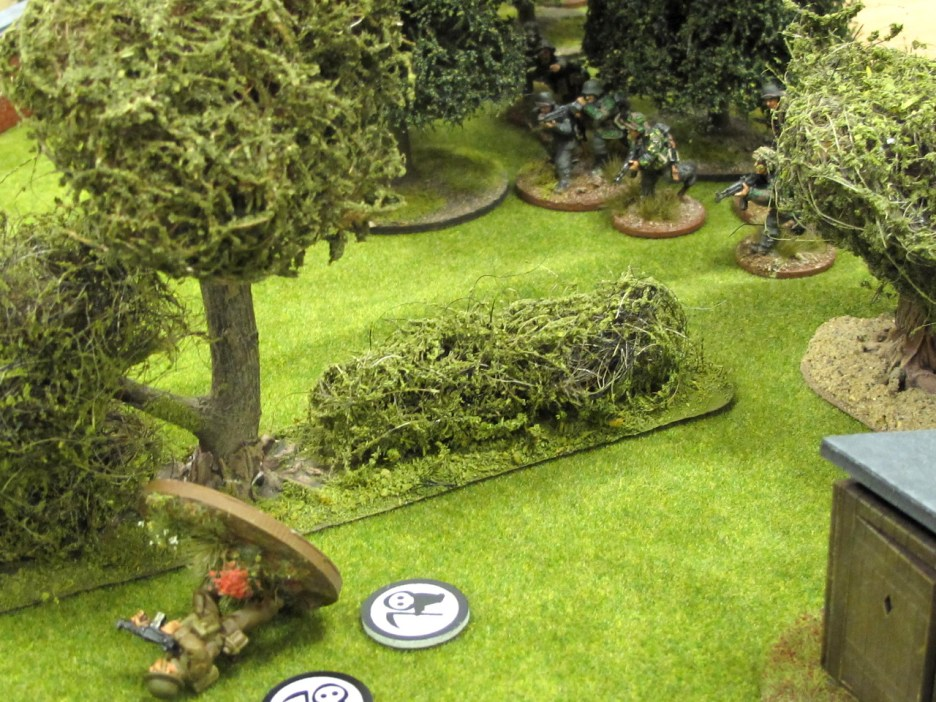 ...but it's too late. German troops bear down on the unconscious platoon sergeant.
