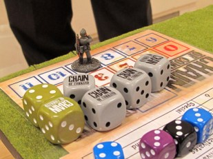 This is the German pile of five CoC dice that they STARTED the game with!