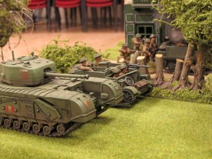 ...forcing the rest of the British armour to advance through the orchard