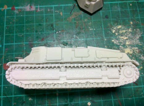 This was the hull casting as it came. Absolutely no cleanup required. A very nice surprise!