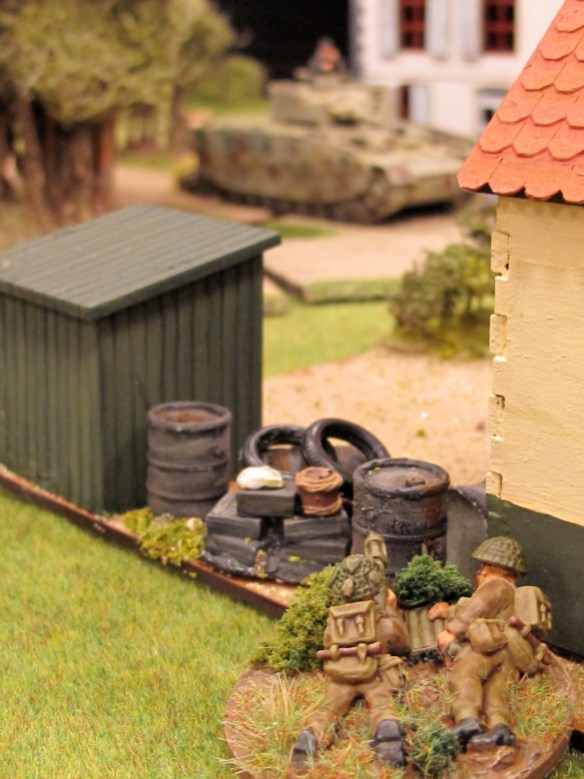 A Jock PIAT crew about to prevent a panzer from entering their corridor