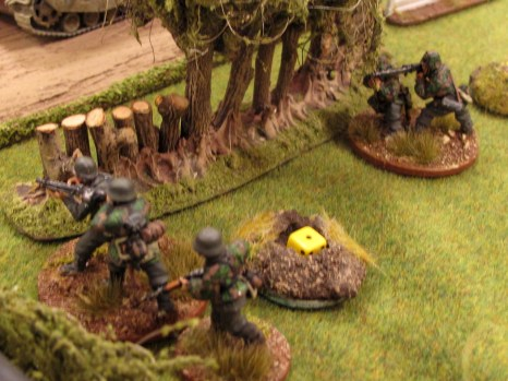 ...and the Germans in the field