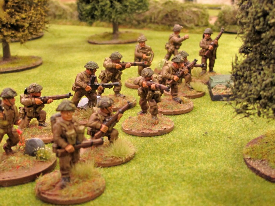 The first British section deploys with their CO and a medic