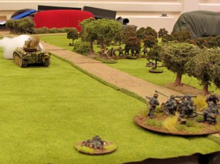 German forces deployed in strength and laid into the defenders