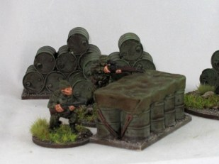Apart from the skips all of this terrain works for WW2, as these Soviet scouts show