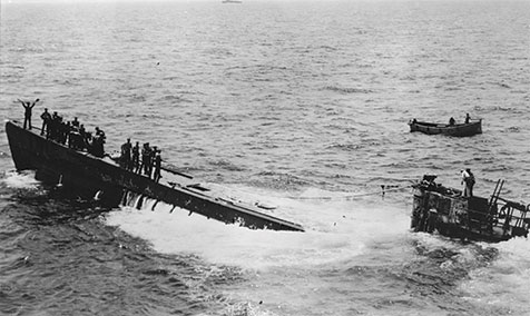 Mid-43 the balance in the Atlantic had tipped against the U-boats, and convoys were pouring across from North America