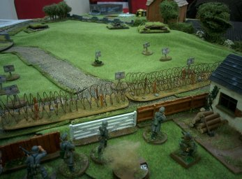 German pioneers contemplate the Soviet bunkers on the hill in a BigCoC game