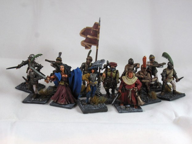 The starting warband, 12 strong