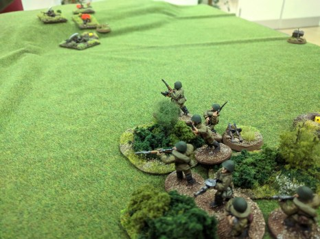 A second Soviet squad deploys and concentrates on the same target as the first