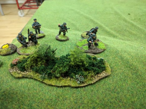 Worn down by fire, the squad with the platoon commander is looking very shaky