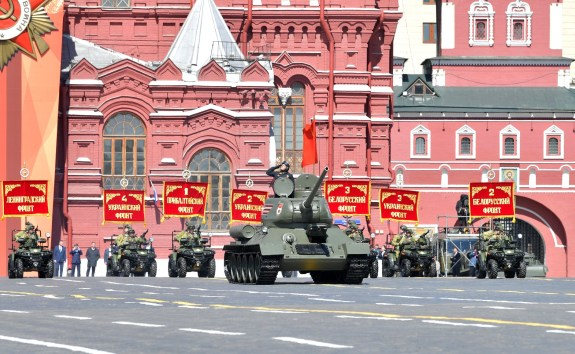 There's always at least one T-34 running in the May 9 Victory Parade. Recently the Russians bought a job lot of running T-34s from Laos to ensure they'll be present for some time to come.