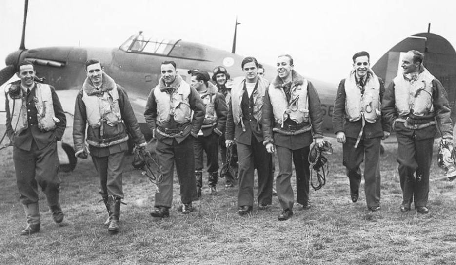 The glamour boys: the RAF's top-scoring 303 Polish Squadron. But in reality it was the men of the Royal Navy that made invasion a pipe dream
